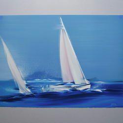 Victor Spahn - Au Large de l'Ile Margaux - Originallithographie, numeriert, signiert - 76 x 56 cm