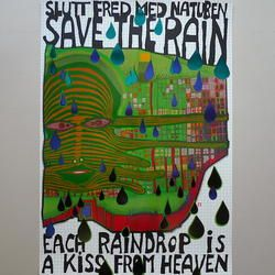 Friedensreich Hundertwasser - Save the Rain - Kunstdruck - 60 x 80 cm