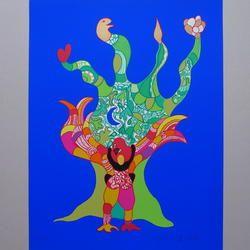 Niki de Saint Phalle - l'oiseaux amureux - Serigraphie, 45/150 - 50 x 65 cm