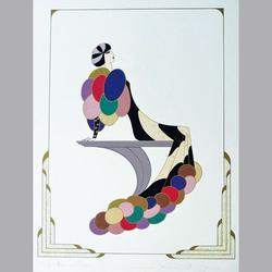 Simon et Bruno - Femme aux Ballons - Serigraphie, 109/160, signiert - 50 x 65 cm