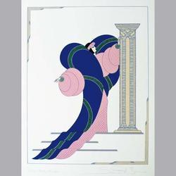 Simon et Bruno - Beauté à la Colonne - Serigraphie, 90/160, signiert - 50 x 65 cm