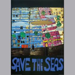 Friedensreich Hundertwasser - Save the Seas - Kunstdruck - 60 x 80 cm