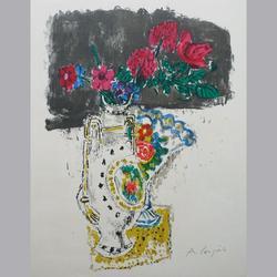 Alois Carigiet - Blumen - Original Lithographie, signiert - 39 x 50 cm
