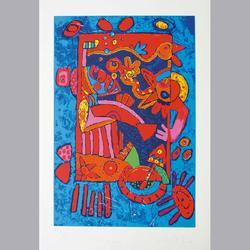 Simon et Bruno - La Reine Amureuse - Serigraphie, Épreuve d'artiste,  VI/XII - 56 x 80 cm