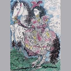 Pablo Picasso - Editions cercle d'art, Paris, Pour Jaqueline Reine, 10.3.59 - Kunstdruck - 26 x 36 cm