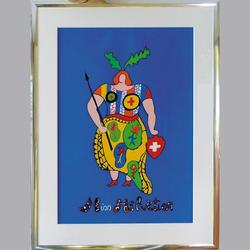 Niki de Saint Phalle - Miss Helvetica - Serigraphie, eingerahmt - 96 x 127 cm