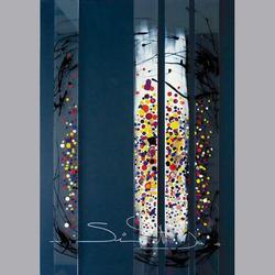 Simon et Bruno - Leinwand Acryl 6x70  4-teilig - 50 x 70 cm