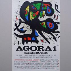Juan Míro - Strasbourg - Lithographie, steinsigniert - 40 x 60 cm