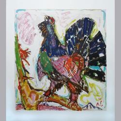 Alois Carigiet - Auerhahn - Granolithographie - 70 x 80 cm