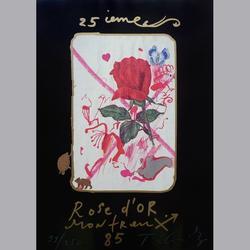 Jean Tinguely - Rose d'or - Lithopraphie, 99/250, signiert - 70 x 100 cm