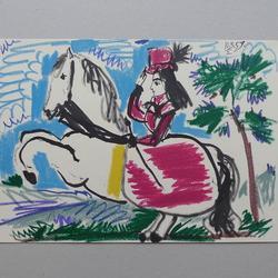 Pablo Picasso - Editions cercle d'art, Paris, Pour Jaqueline Reine, 10.3.59 - Kunstdruck - 36 x 26 cm