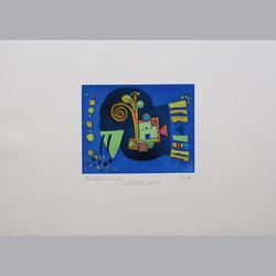 Urs Huber - Paradiesvogel - Aquatinta - 53 x 39 cm