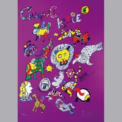 Niki de Saint Phalle - Cirque Knie - Serigraphie - 50 x 70 cm